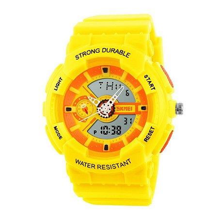 Relógio Infantil Skmei AnaDigi 1052 - Amarelo