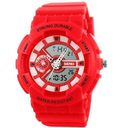 Relógio Infantil Skmei Anadigi 1052 Vermelho-