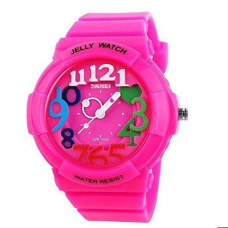Relógio Infantil Skmei Analógico 1042 Rosa-