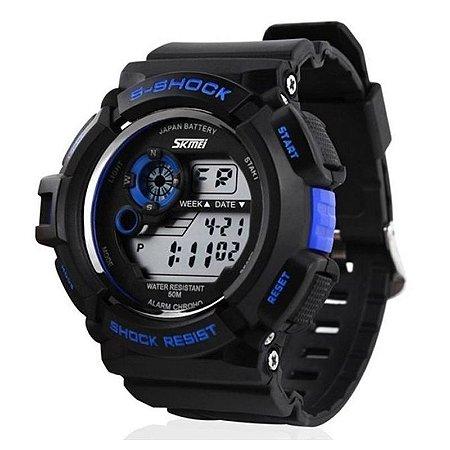 Relógio Skmei Digital 0939 Preto e Azul-
