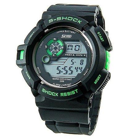 Relógio Skmei Digital 0939 Preto e Verde-