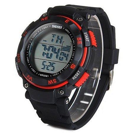 Relógio Skmei Digital 1024 Preto e Vermelho-