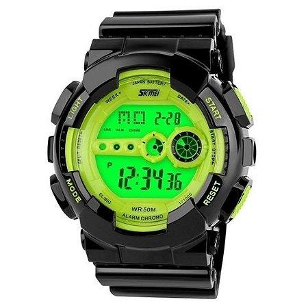 Relógio Skmei Digital 1026 Preto e Verde-