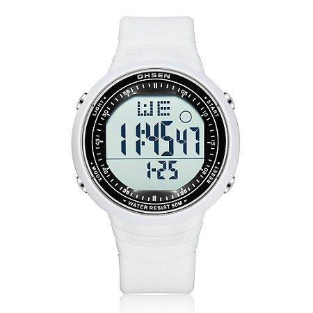 Relógio Unissex Ohsen Digital 1812 - Branco