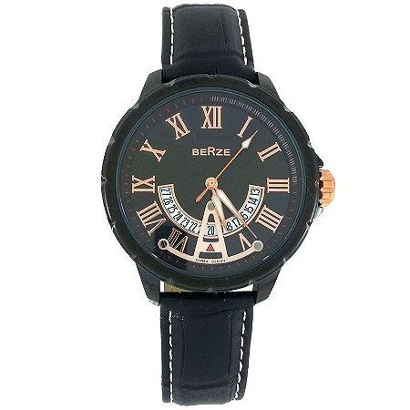 Relógio Analógico Berze BT164 Preto-