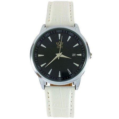 Relógio Analógico Kasi Branco-