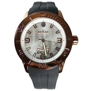 Relógio Analógico Social Berze BS144  Preto e Cobre-