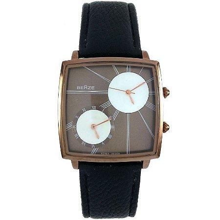 Relógio Analógico Social Berze BT155M Preto Cobre-