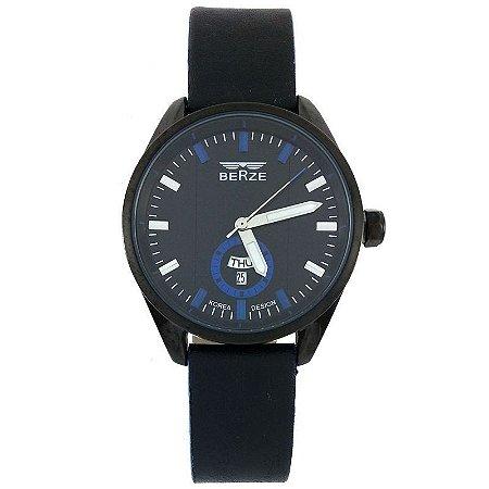 Relógio Analógico Social Berze BT170M Preto e Azul-