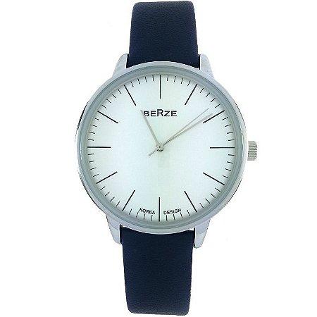 Relógio Analógico Social Berze BT238M Azul e Branco-