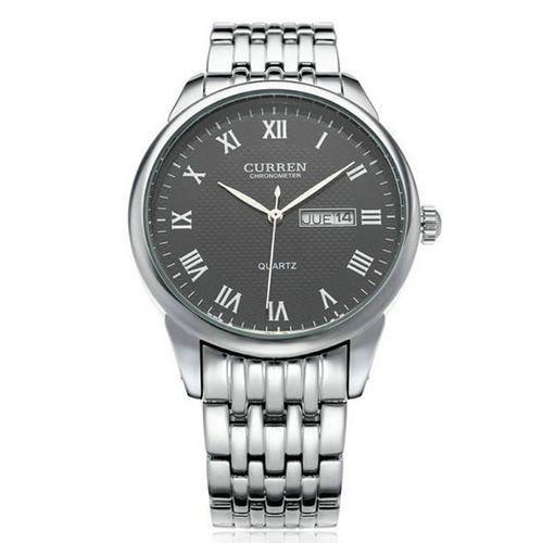 Relógio Curren Analógico 8086 Prata e Preto-