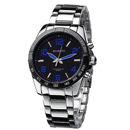 Relógio Curren Analógico 8107 Azul-