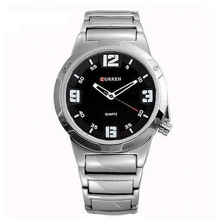 Relógio Curren Analógico 8111 Prata-