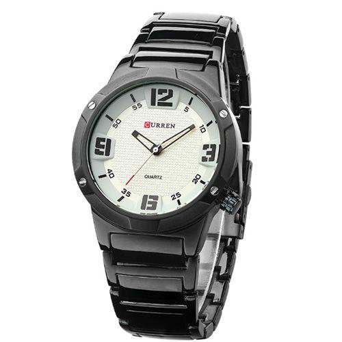 Relógio Curren Analógico 8111 Preto e Branco-