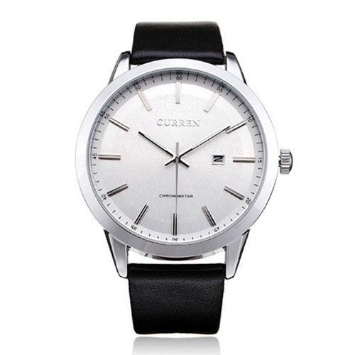 Relógio Curren Analógico 8114 Preto e Prata-