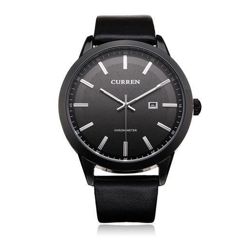 Relógio Curren Analógico 8114 Preto-