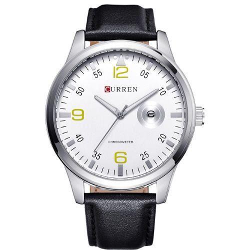 Relógio Curren Analógico 8116 Preto e Branco-