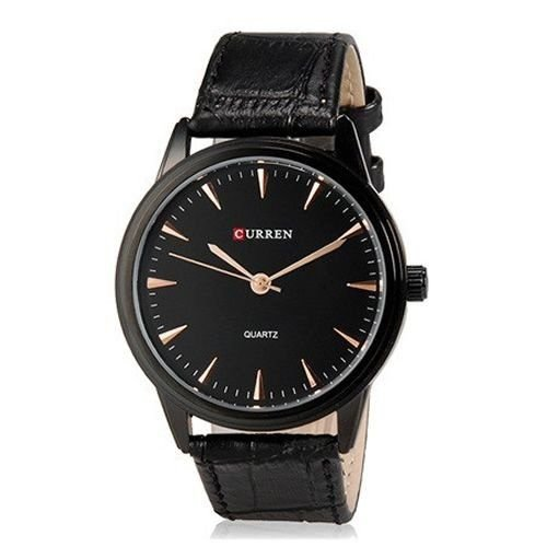Relógio Curren Analógico 8119G Preto-