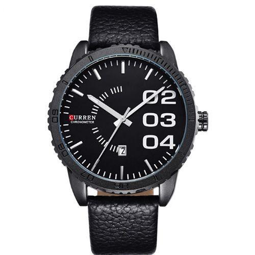 Relógio Curren Analógico 8125 Preto-