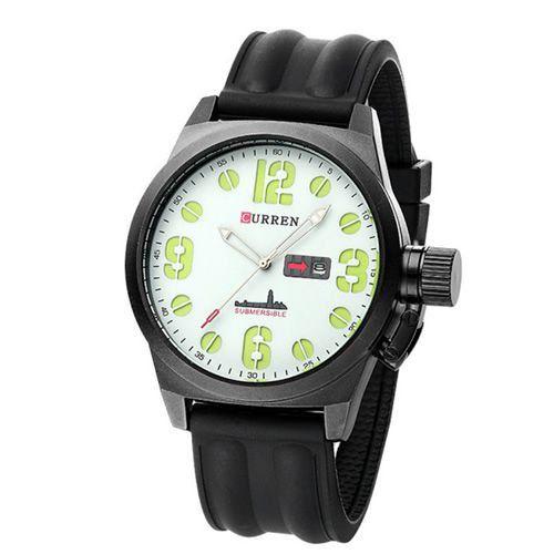 Relógio Curren Analógico 8127 Preto e Branco-