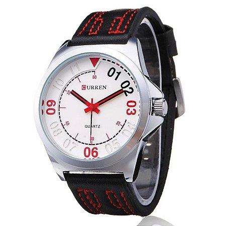 Relógio Curren Analógico 8153 Branco-
