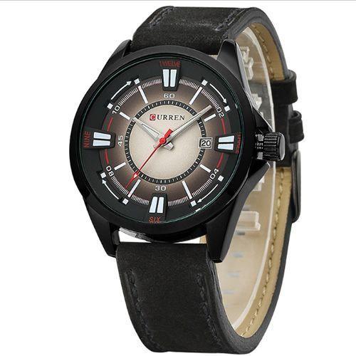 Relógio Curren Analógico 8155 Preto e Marrom-
