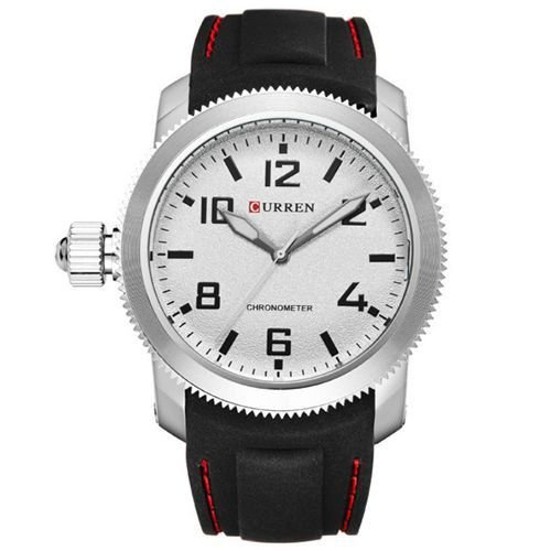 Relógio Curren Analógico 8173 Preto e Prata-
