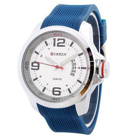 Relógio Curren Analógico 8174 Azul-