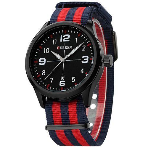 Relógio Curren Analógico 8195 Azul e Vermelho-