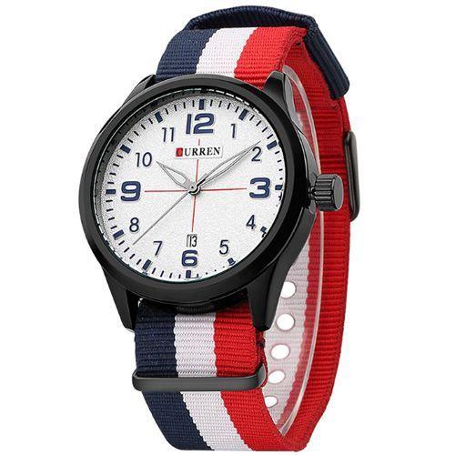 Relógio Curren Analógico 8195 Preto e Branco-