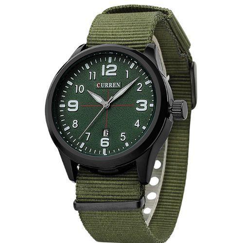Relógio Curren Analógico 8195 Verde e Preto-