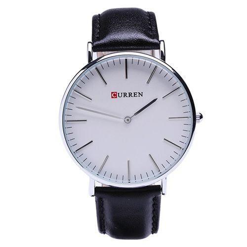 Relógio Curren Analógico 8209G Preto e Branco-