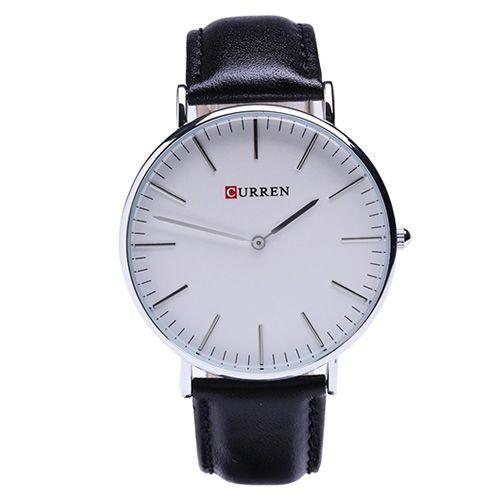 Relógio Curren Analógico 8209G PretovBranco-