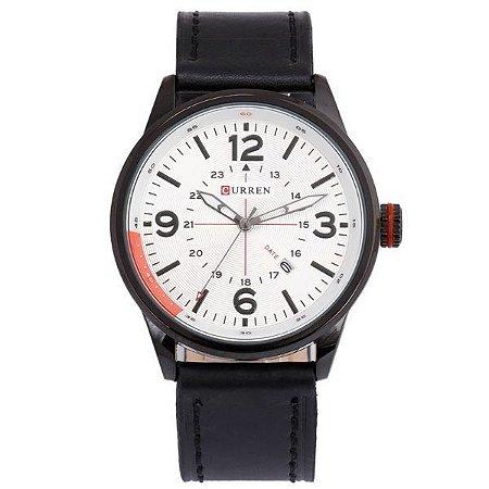 Relógio Curren Analógico 8215 Branco-