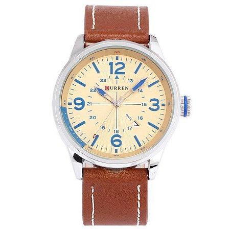 Relógio Curren Analógico 8215 Marrom-