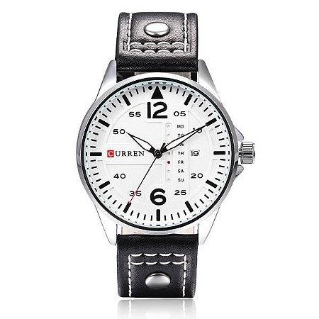 Relógio Curren Analógico 8224 Branco-