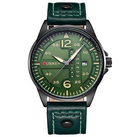 Relógio Curren Analógico 8224 Verde-