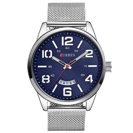 Relógio Curren Analógico 8236 Azul-