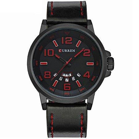 Relógio Curren Analógico 8240 Vermelho-