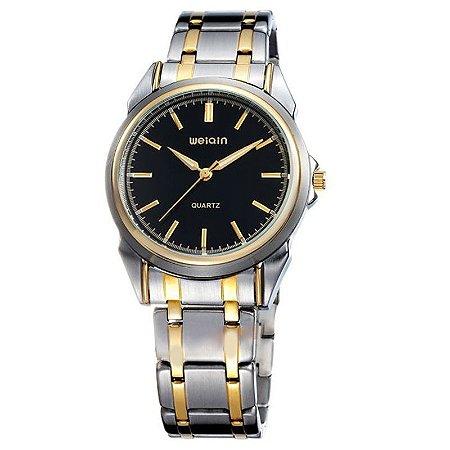 Relógio Unissex  Weiqin Analógico Casual W0031AG Preto-