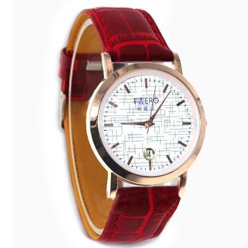 Relógio Unissex Kasi/Fmero Analógico Casual Y013 Vermelho-