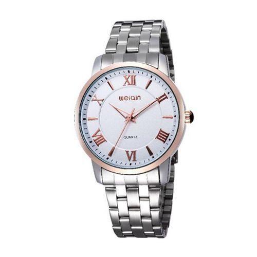 Relógio Unissex Weiqin Analógico Casual W0096 Prata-