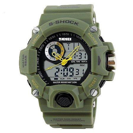 Relógio Skmei Anadigi  1053 Verde-