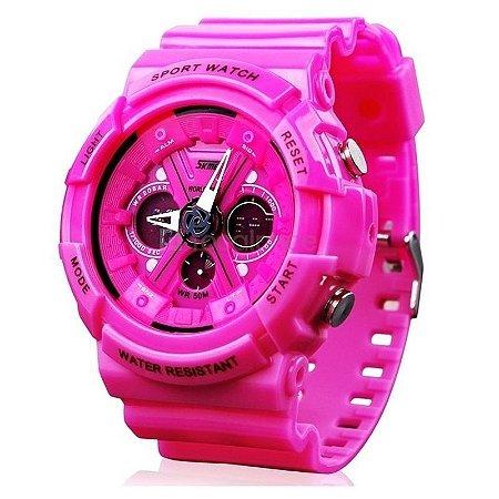 Relógio Skmei Anadigi 0966 Rosa-