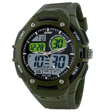 Relógio Skmei Anadigi 1018 Verde-