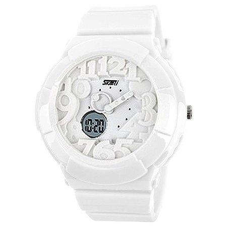 Relógio Skmei Anadigi 1020 Branco-