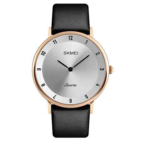 Relógio Unissex Skmei Analógico 1263 - Preto e Dourado