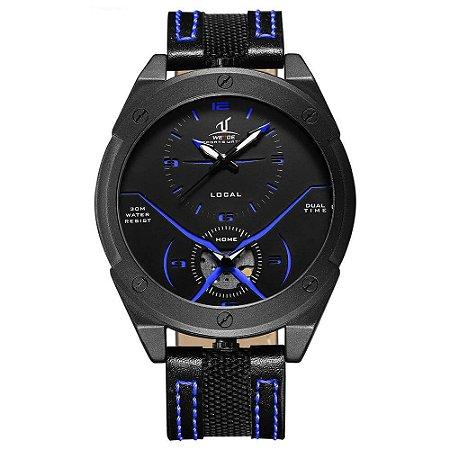 Relógio Masculino Weide Analógico UV-1703 - Preto e Azul