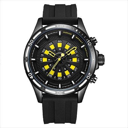 Relógio Masculino Weide Analógico WH-7308 - Preto e Amarelo