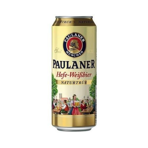 Paulaner Hefe-Weissbier Naturtrüb lata 500ml